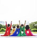 Van de de Aspiratieverbeelding van Superherojonge geitjes Speels de Pretconcept royalty-vrije stock fotografie