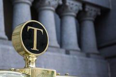 Van de de Bagagekar van Donald Trump Hotel Letter T de de Wagenclose-up detailleert Nr Royalty-vrije Stock Afbeeldingen