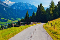 Het landschap van alpen Stock Afbeelding