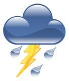 Van de de bliksemdonder van het weerpictogram clipart het onweersillus Stock Fotografie