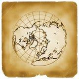 Van de de bolaarde van de planeet het oude document Stock Fotografie