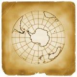 Van de de bolaarde van de planeet het oude document Stock Afbeeldingen