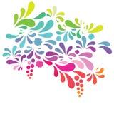 Van de de boogdaling van het regenboogsilhouet vector het ontwerpelement Royalty-vrije Stock Afbeelding