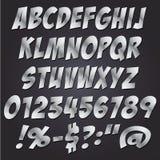 Van de de brievenstijl van het strippaginametaal de reeks van de het alfabetinzameling Royalty-vrije Stock Fotografie