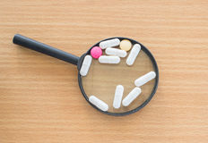 Van de de capsulehoop van tablettenpillen de drugs van de de mengelingstherapie Stock Afbeeldingen