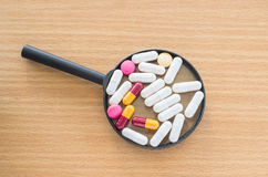 Van de de capsulehoop van tablettenpillen de drugs van de de mengelingstherapie Royalty-vrije Stock Foto