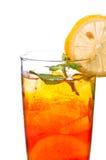 Van de de citroenthee van het ijs dichte omhooggaand Stock Foto's