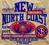 Van de de Clubmens van het zeiljacht de T-shirt Grafisch Vectorontwerp Royalty-vrije Stock Fotografie