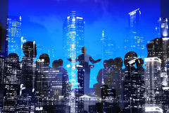 Van de de Conferentievergadering van het bedrijfsmensenseminarie het Concept van de Stadsscape royalty-vrije stock fotografie