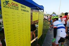 Van de de Cyclusweg van Singapore OCBC het Ras 2016 Stock Foto