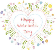 Van de de daggroet van Valentine de kaartmalplaatje Stock Afbeeldingen