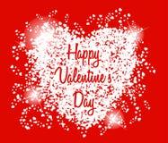 Van de de dagkaart van gelukkig Valentine de harten lichte vector Royalty-vrije Stock Fotografie
