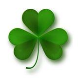 Van de de Dagklaver van heilige Patricks het bladsymbool op wit wordt geïsoleerd dat Royalty-vrije Stock Foto's