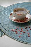 Van de de dagochtend van Valentine het gewas van het de koffieportret Stock Afbeelding