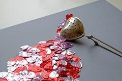 Van de de dagthee van Valentine de zeef abstract landschap vast Royalty-vrije Stock Foto