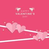 Van de de Dagviering van Valentine het ontwerp van de de groetkaart Stock Afbeelding