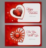 Van de de dagviering van Valentine´s de giftkaart Stock Foto's