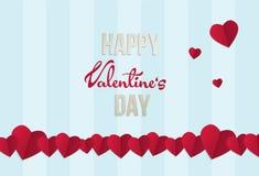 Van de de dagwens van Valentine de kaart vectorillustratie Stock Afbeeldingen
