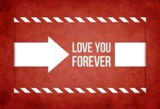 Van de de dagwens van Valentine de kaart vectorillustratie Stock Foto