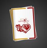 Van de de dagwerveling van de valentijnskaart de kaart van de het ontwerpgroet Stock Foto