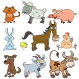 Van de de dierenkrabbel van het landbouwbedrijf het pictogramreeks Royalty-vrije Stock Afbeeldingen