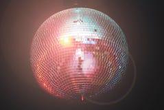 Van de de discomuziek van de spiegelbal de muziek van het de clubnachtleven Stock Afbeeldingen