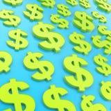 Van de de dollarmunt van USD Amerikaanse het tekensamenstelling Royalty-vrije Stock Foto