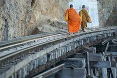 VAN DE DE DOODSspoorweg VAN THAILAND KANCHANABURI DE RIVIER KWAI Royalty-vrije Stock Foto's