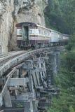 VAN DE DE DOODSspoorweg VAN THAILAND KANCHANABURI DE RIVIER KWAI Stock Fotografie
