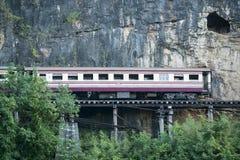 VAN DE DE DOODSspoorweg VAN THAILAND KANCHANABURI DE RIVIER KWAI Royalty-vrije Stock Afbeeldingen