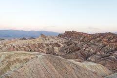 Van de de doodsvallei van het Zabriskiepunt de prachtige zonsopgang Royalty-vrije Stock Afbeeldingen