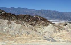 Van de de Doodsvallei van het Zabriskiepunt het Nationale Park, CA, de V.S. Royalty-vrije Stock Afbeeldingen
