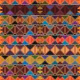 Van de de dooslijn van de diamantvorm het uitstekende naadloze patroon stock illustratie