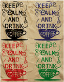 Van de de Drankt-shirt van de koffieslogan van de de koffiebar van het de koffiehuis het Ontwerp Vectorart. Royalty-vrije Stock Foto's