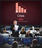Van de de Economienoodsituatie van het crisiskritische punt het Risicoconcept Stock Fotografie