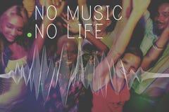Van de de Emotieuitdrukking van de muziek Audiocultuur het Ritmeconcept stock afbeelding