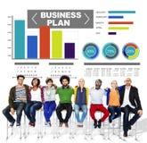 Van de de Grafiekbrainstorming van het Businessplan van het de Strategieidee de Informatieconcept Royalty-vrije Stock Foto's