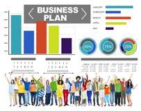 Van de de Grafiekbrainstorming van het Businessplan van het de Strategieidee de Informatieconcept Stock Foto