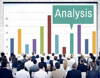 Van de de Grafiekgroei van analyseanalytics de Statistiekenconcept Royalty-vrije Stock Foto's