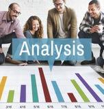 Van de de Grafiekgroei van analyseanalytics de Statistiekenconcept Royalty-vrije Stock Fotografie