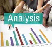 Van de de Grafiekgroei van analyseanalytics de Statistiekenconcept Stock Afbeelding