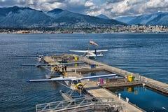 Van de de Havenvlucht van Vancouver de Terminal van het het Centrumwatervliegtuig stock afbeelding