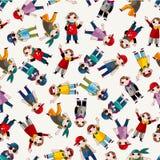 Van de de heuphop van het beeldverhaal de jongens dansend naadloos patroon Stock Foto