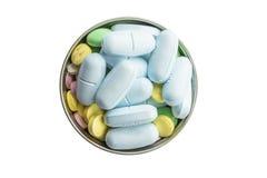 Van de de hoopkleur van tablettenpillen de mengelingsgeneeskunde Royalty-vrije Stock Afbeeldingen