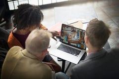Van de de Ideeëncreativiteit van de mensenvergadering het Concept van het de Verbeeldingsgroepswerk Stock Afbeeldingen