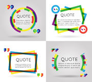 Van de de informatietekst van het citaatmalplaatje kleurrijke mobiele de blogzaken geïsoleerd op witte achtergrond vectorillustra Royalty-vrije Stock Foto's