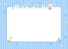 Van de de jongensaankomst van de baby de kaart/de achtergrond Royalty-vrije Stock Afbeeldingen