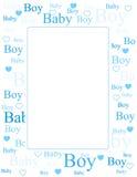 Van de de jongensaankomst van de baby de kaart/de achtergrond Royalty-vrije Stock Afbeelding