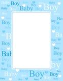 Van de de jongensaankomst van de baby de kaart/de achtergrond Stock Fotografie