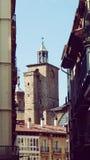 Van de de Kerktoren van Pamplona de Oude Stad Europa Spanje Royalty-vrije Stock Afbeelding
